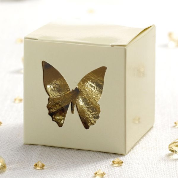 Elegant Butterfly Favour Boxes - Ivory (10)